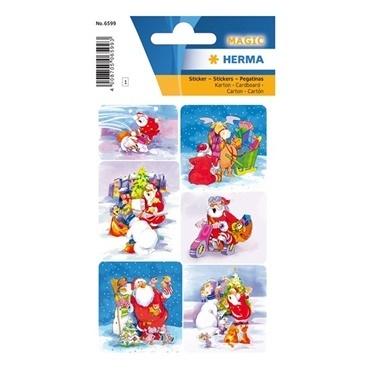 Herma Çocuk Etiketleri Noel Baba Renkli